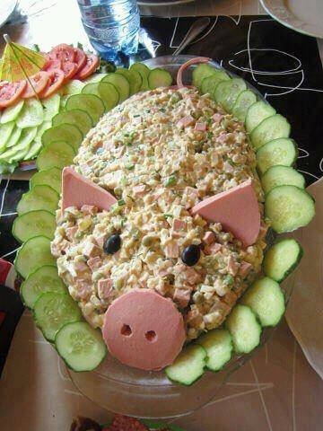 Украшение салатов салаты фото
